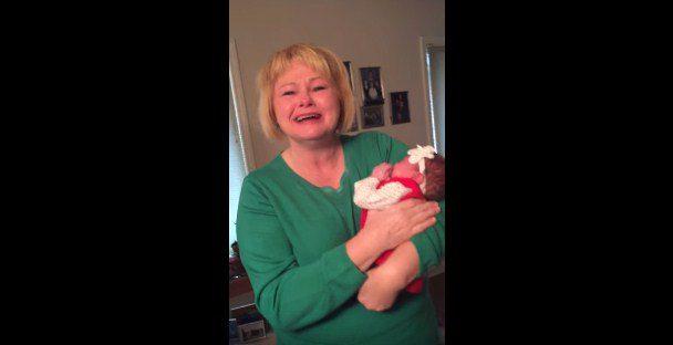 grandma surprised baby gender 1
