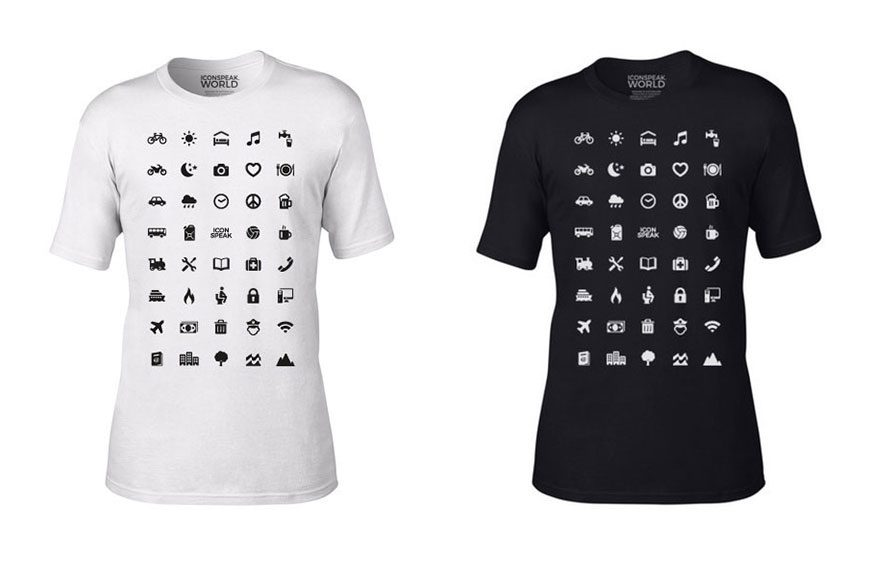 traveller shirt icons