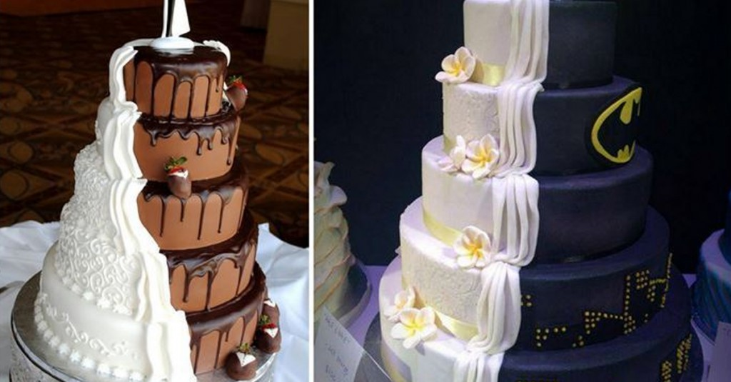 Beautiful His And Her Designer Wedding Cakes - His And Hers Wedding Cake