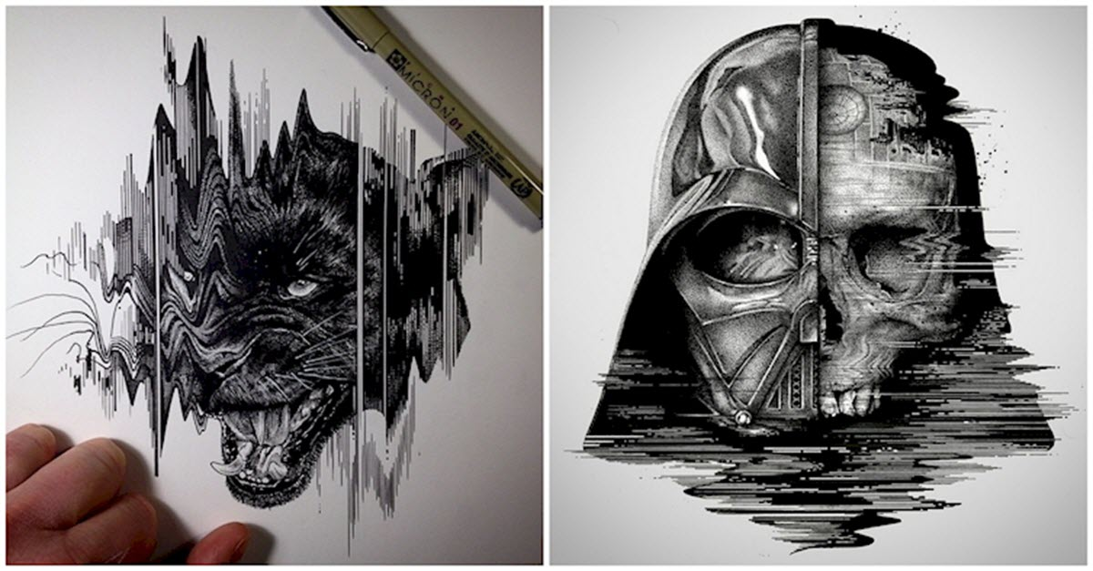 this artist uses simple tools to create the most detailed
