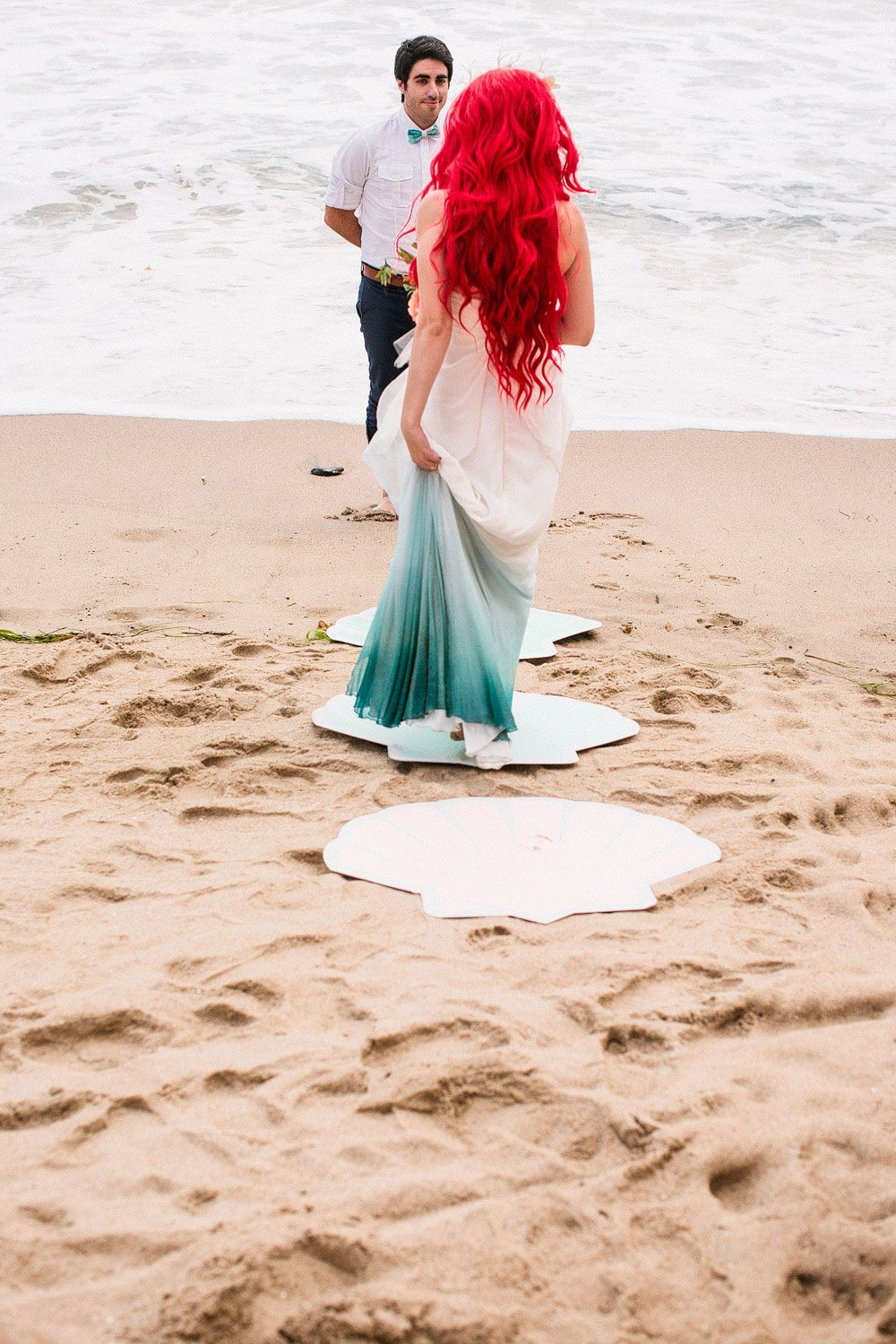 Couple Brings A Little Mermaid Themed Wedding To Life
