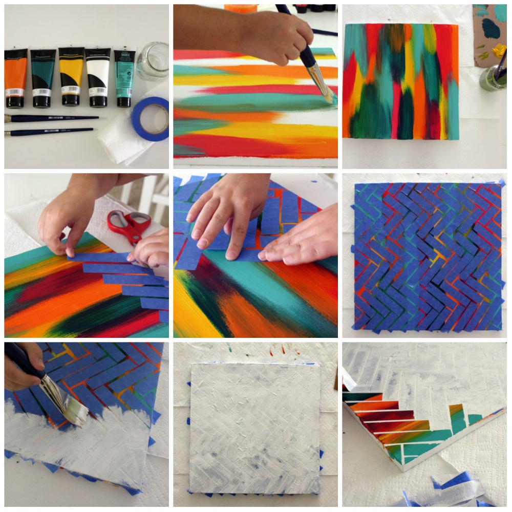 Easy and creative ways to make your very own abstract painting for Easy to do abstract paintings