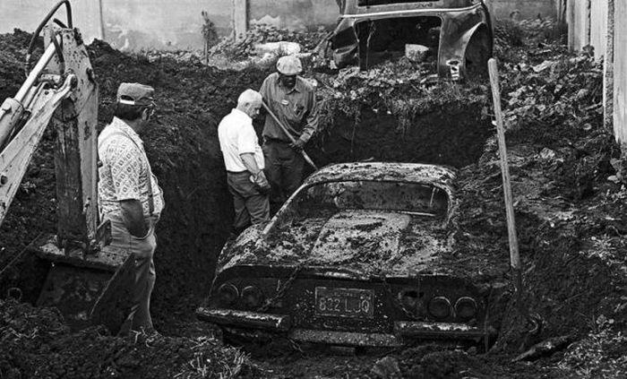 ferrari found buried