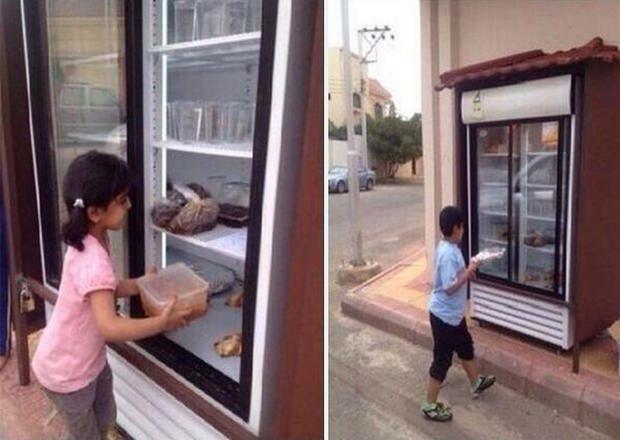fridge kept outside