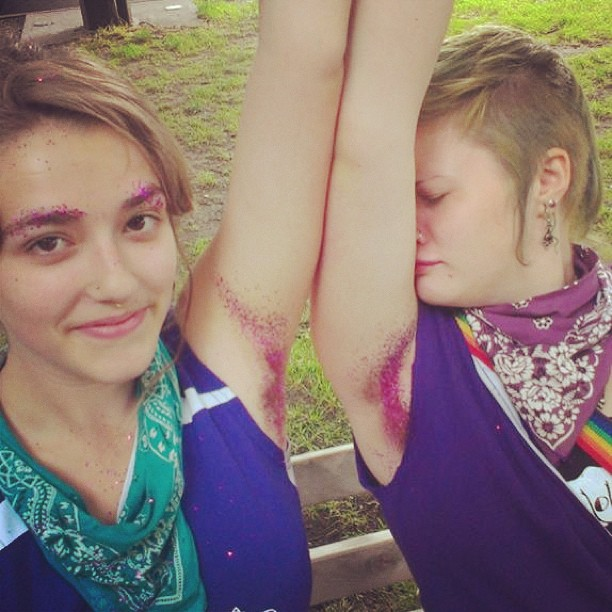 glitter armpits