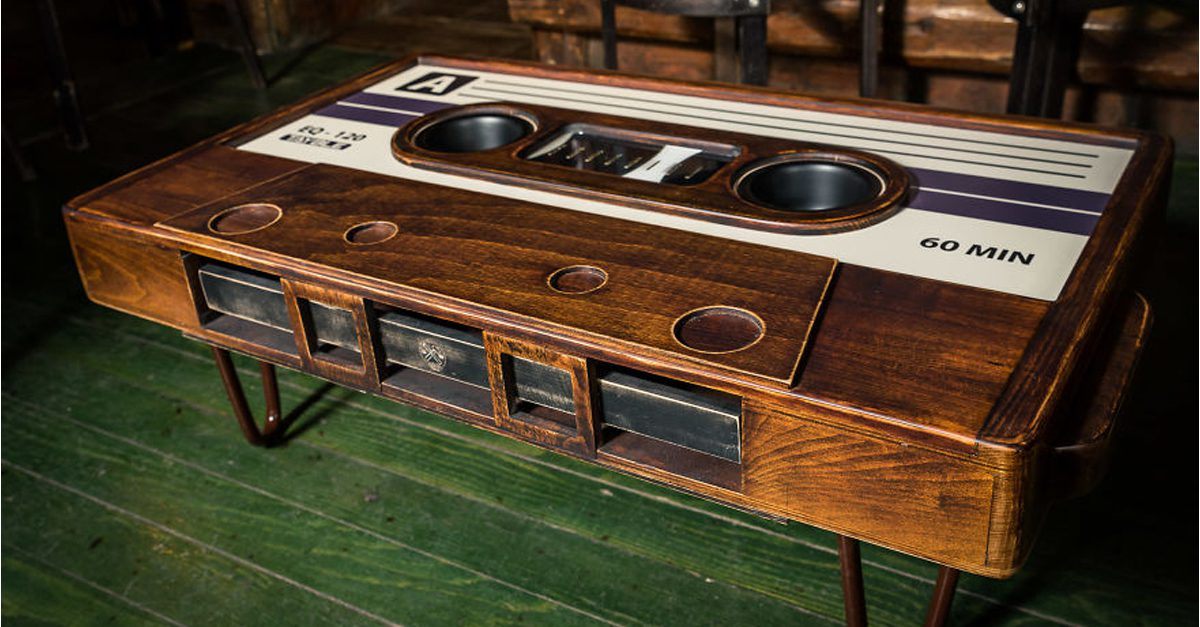 His Friend Made An Awesome Cassette Tape Coffee Table - Cassette coffee table