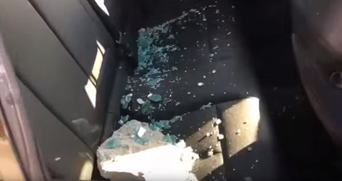 man frees dog inside car 3