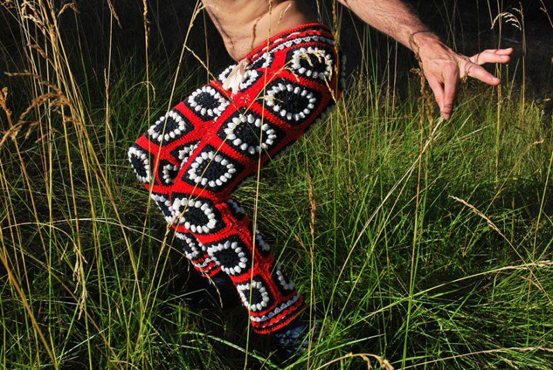 Crocheted Shorts Vintage Blankets