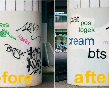 painted over graffiti