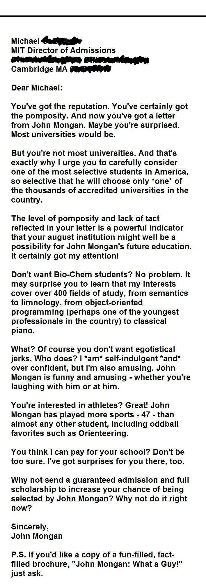 MIT letter