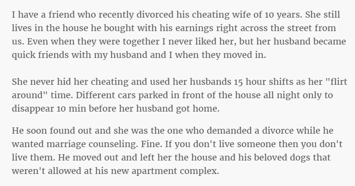 Neighbor Has The Best Conversation Ever With A Friend's Cheating Ex