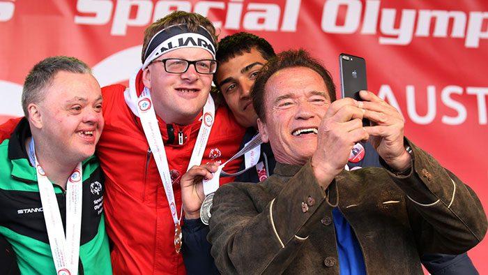 arnold schwarzenegger special olympics troll