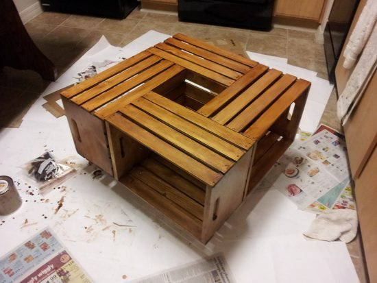 How To Make Your Own Beautiful And Functional Wine Crate Coffee Table