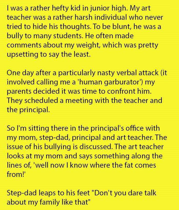 teacher bullying student