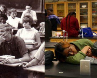 high school in 1970 versus 2015