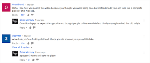 biker internet response