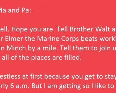 farm kid letter marines