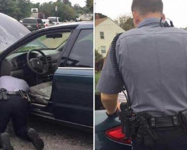 officer helping motorist