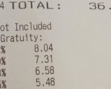 restaurant suggested gratuity