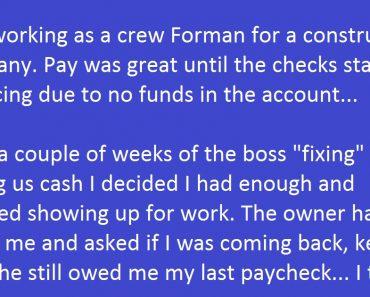 bad payroll check