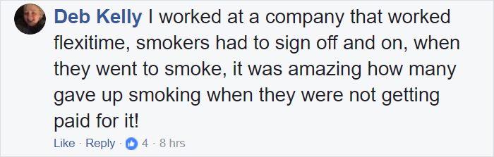 cigarette breaks versus paid time off