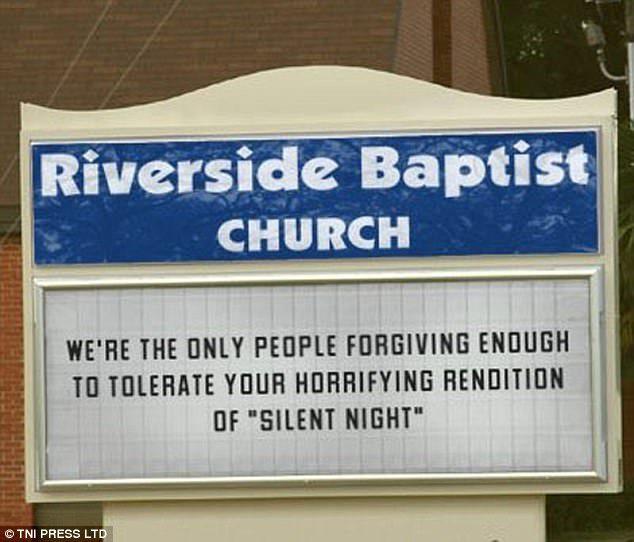 church christmas signs