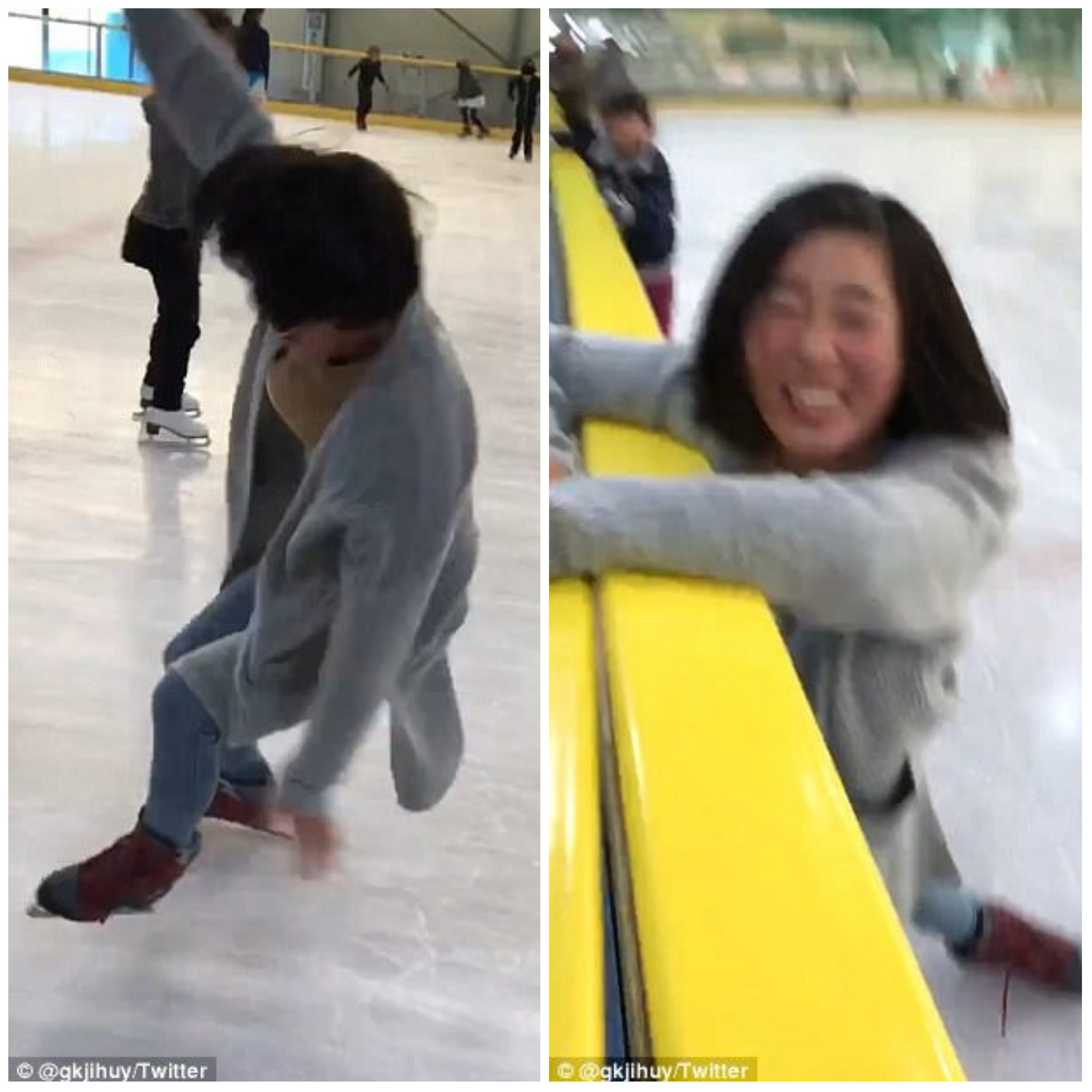 japanese teen s epic drawn out tumble while ice skating