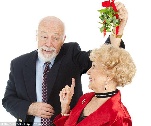 kissing mistletoe