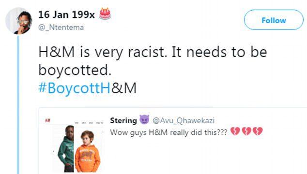 h&m boycott