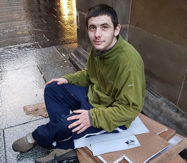 starbucks homeless man
