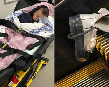 Vancouver airport escalator accident