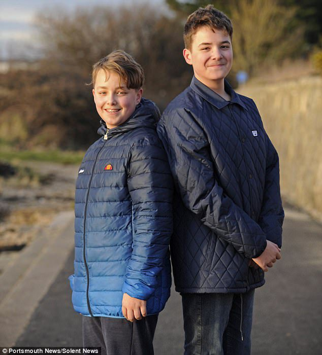 boy saves twin brother's life