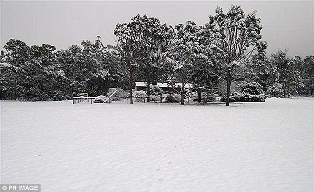 Australia icy winter