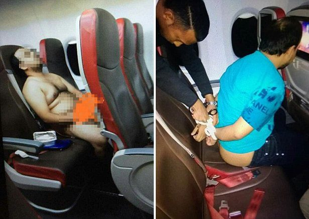 Malindo Air passenger stripping