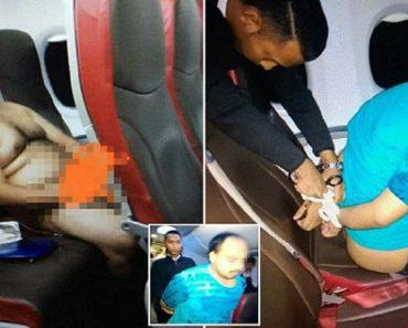 Malindo Air passenger stripping