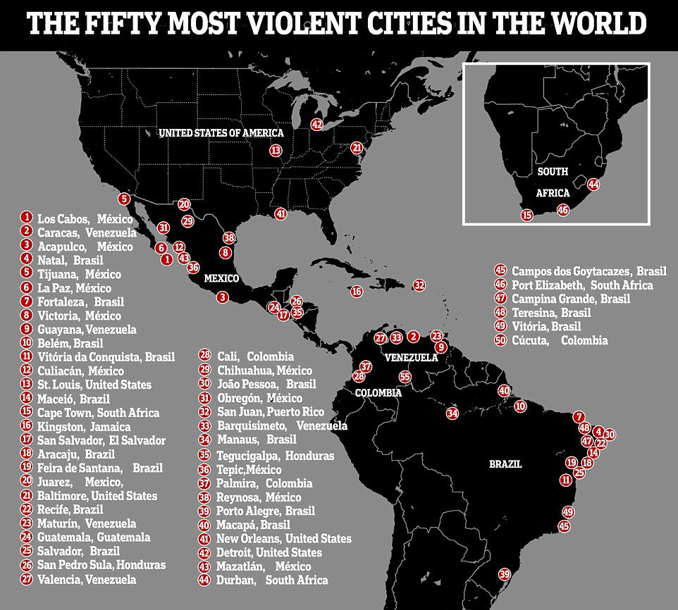 world's most dangerous cities