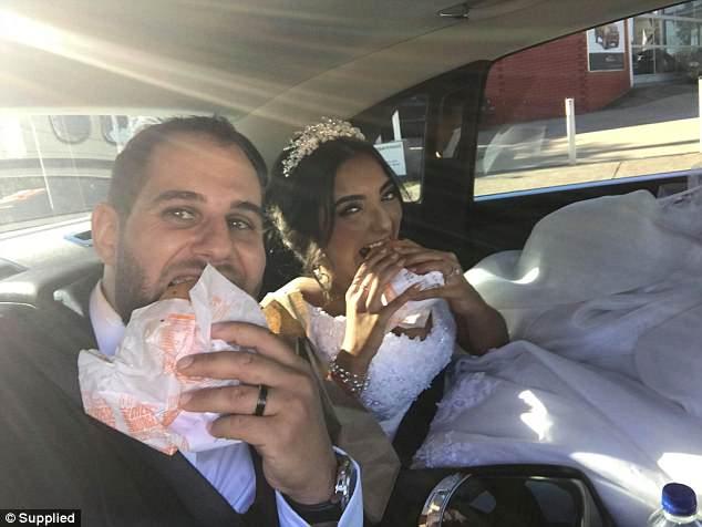 McDonald's cheeseburgers wedding