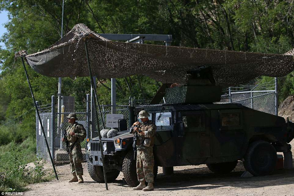 National Guard patrolling Mexican border
