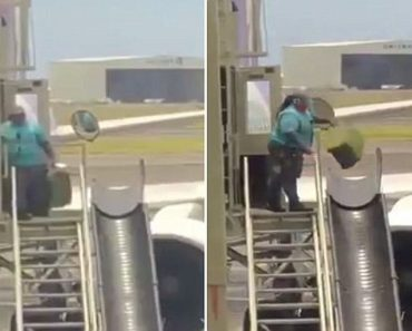 baggage handler throwing suitcases video