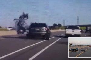 motorcyclist fatally collides SUV