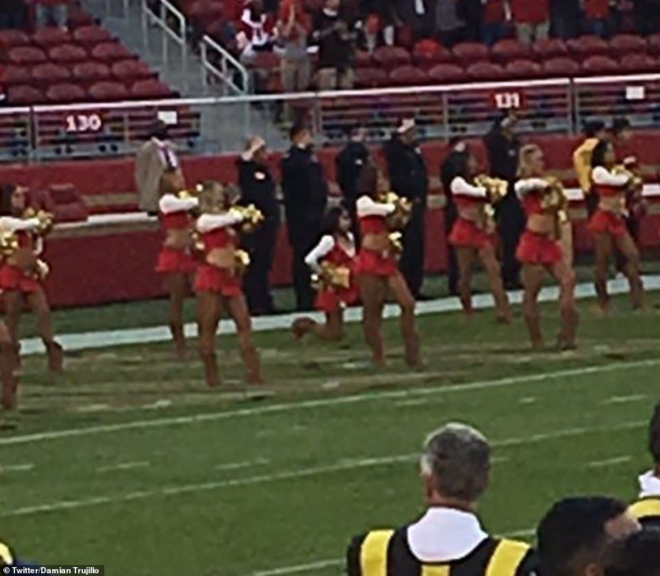 Kayla Morris kneeled national anthem