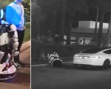 tesla self-driving car accident