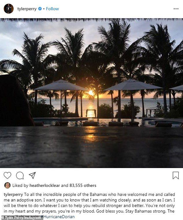 tyler perry bahamas help