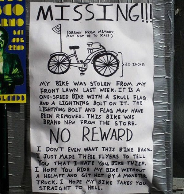 funny lost and found signs